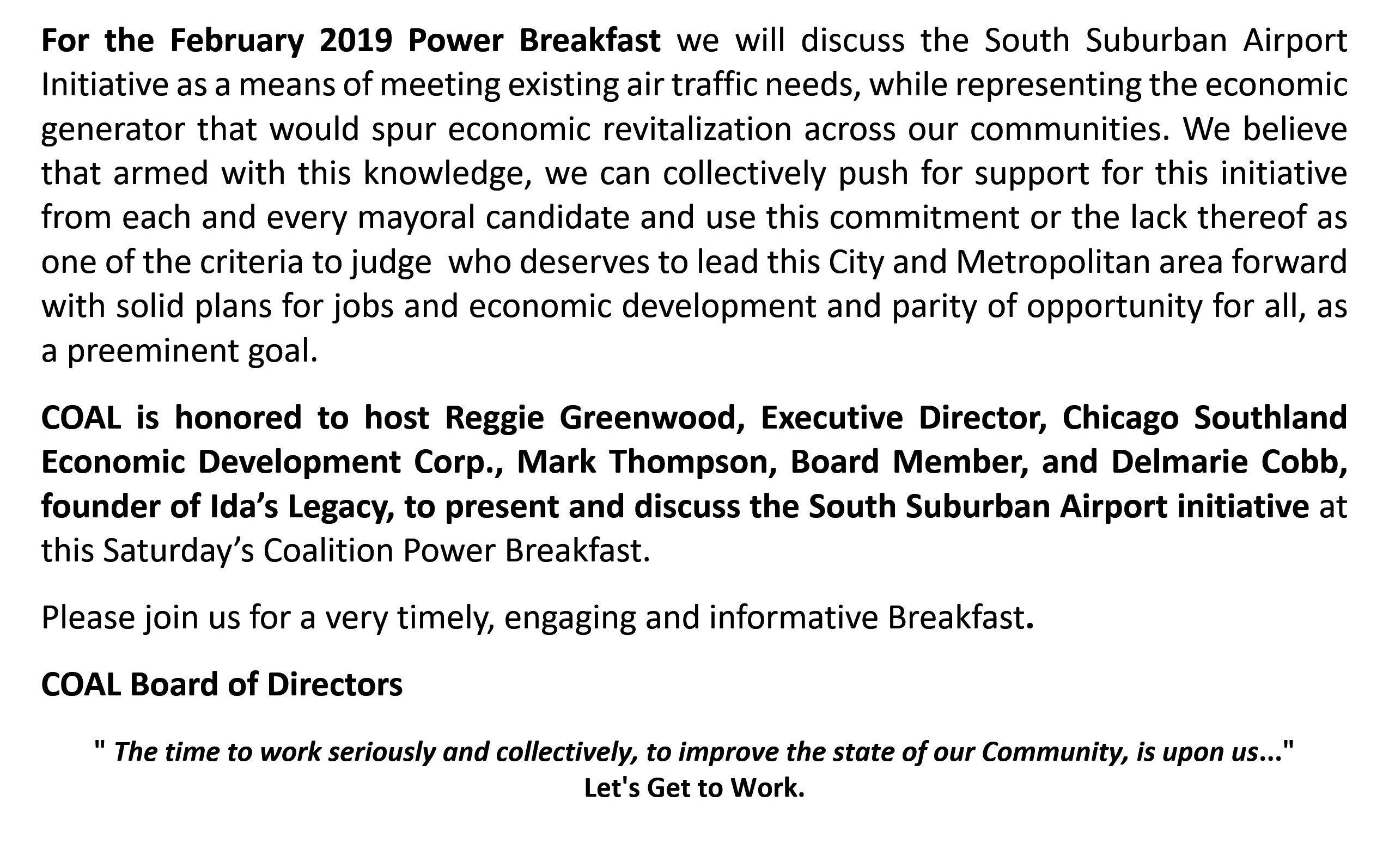 Coalition Power Breakfast @ BJ's Market