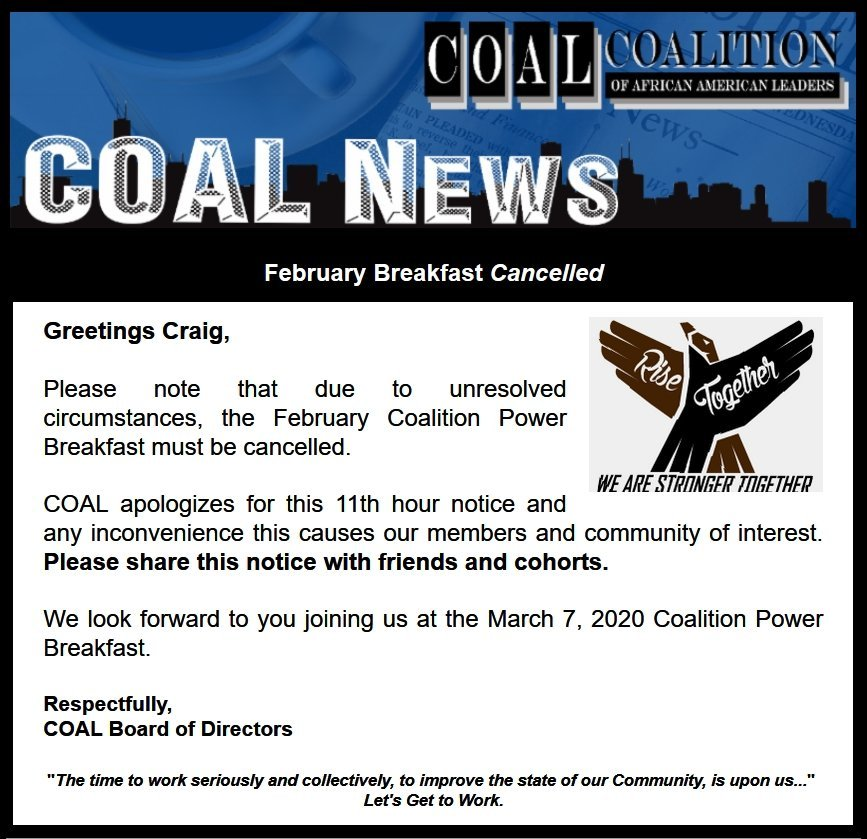 COAL Coalition Power Breakfast (Cancelled)